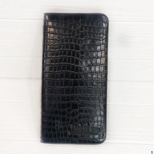 Клатч мужской Shaishi 12000 крокодил чёрный