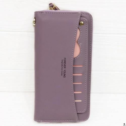 Клатч женский Boershi Y18003 фиолетовый