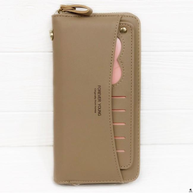 Клатч женский Boershi Y18003 коричневый